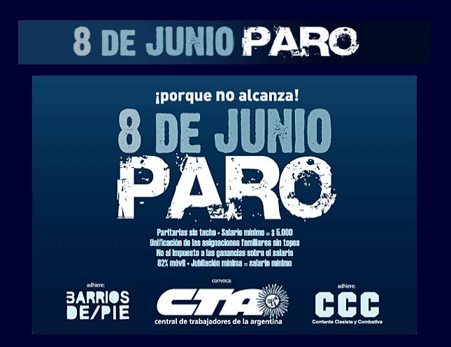 05/06/2012 próximo viernes 8 de junio paro nacional de la ...